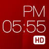 Red Clock HD (Weather & Alarm)